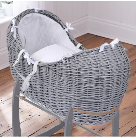 Clair De Lune Grey Wicker Noah Pod - Waffle White