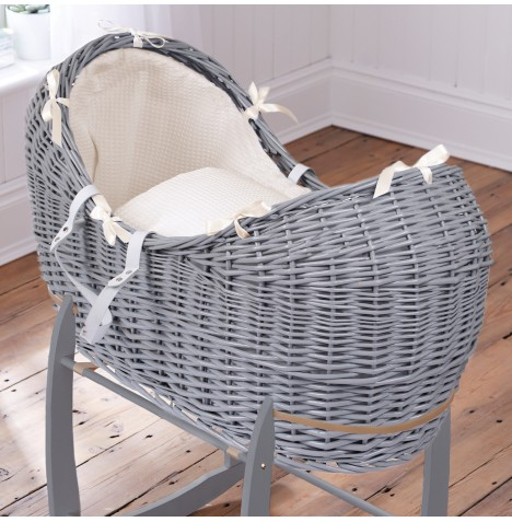 Clair De Lune Grey Wicker Noah Pod - Waffle Cream