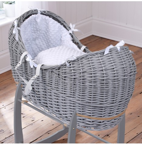 Clair De Lune Grey Wicker Noah Pod - Dimple White