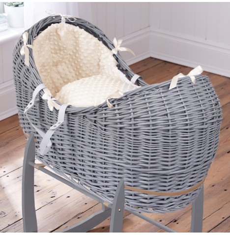 Clair De Lune Grey Wicker Noah Pod - Dimple Cream