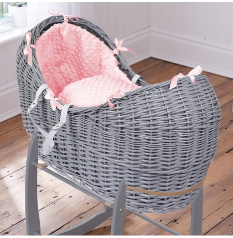 Clair De Lune Grey Wicker Noah Pod - Dimple Pink