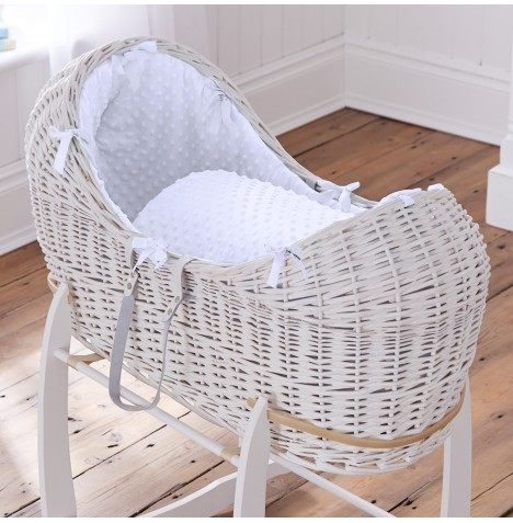 Clair De Lune White Wicker Noah Pod - Dimple White