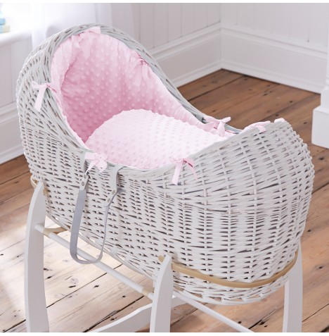 Clair De Lune White Wicker Noah Pod - Dimple Pink