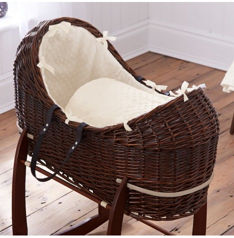 Clair De Lune Dark Wicker Noah Pod - Dimple Cream