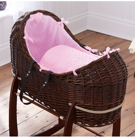 Clair De Lune Dark Wicker Noah Pod - Dimple Pink