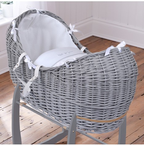 Clair De Lune Grey Wicker Noah Pod - Silver Lining