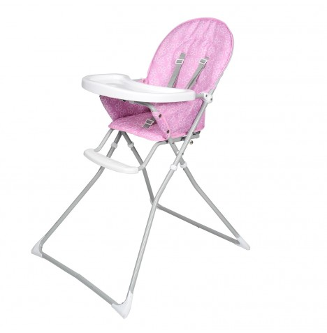 Red Kite Feed Me Compact Highchair - Lilac Daisy