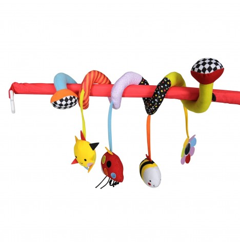 Red Kite Spiraloo Pushchair / Car Seat Toy - Garden Gang