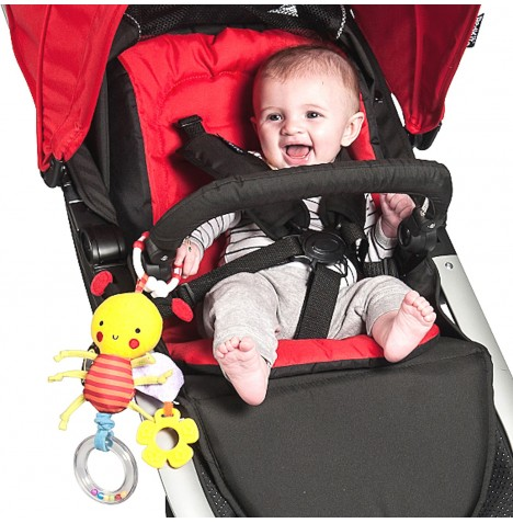 Red Kite Garden Gang Clip On Pushchair / Car Seat  Toy - Bizzy Bee