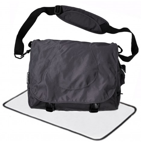 First Wheels Large Designer Nursing / Changing Bag - Charcoal Black