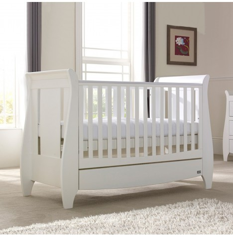 Tutti Bambini Lucas Cot Bed & Drawer - White
