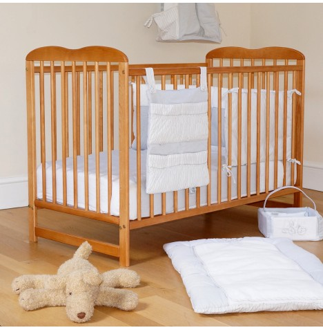 4Baby Solid Wood Eva Classic Cot With Foam Mattress - Country Pine..