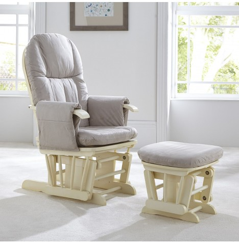 tutti bambini gc35 reclining glider nursing chair u0026 stool vanilla - Nursing Chair