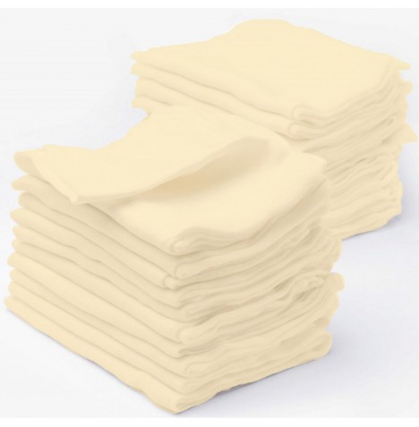 4baby Cotton Muslin Squares (6 Pack) - Cream