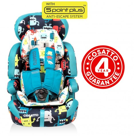 Cosatto Zoomi Group 123 5 Point Plus Car Seat - Cuddle Monster 2