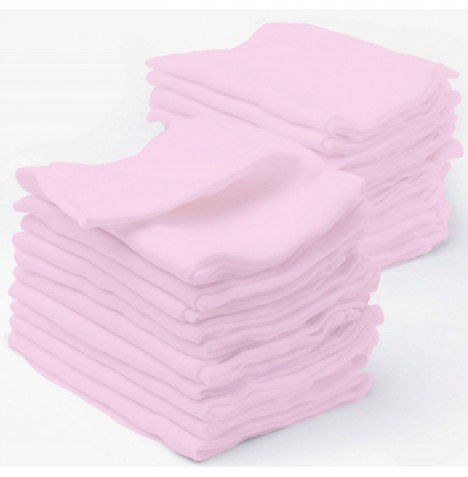 4baby Cotton Muslin Squares (12 Pack) - Pink