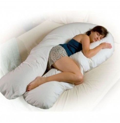 4baby 12ft Body & Baby Sleep Support Pillow - White