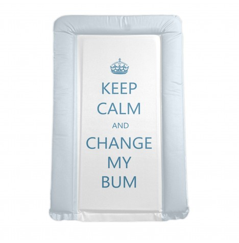 4baby Padded Changing Mat - Keep Calm And Change My Bum Blue