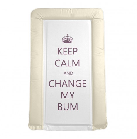 4baby Padded Changing Mat - Keep Calm And Change My Bum Cream
