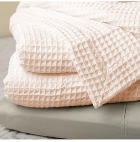 Clair De Lune Waffle Cot / Cot Bed Blanket - Cream