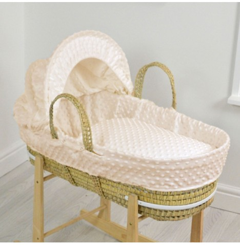 4baby Palm Moses Basket - Dimple Cream