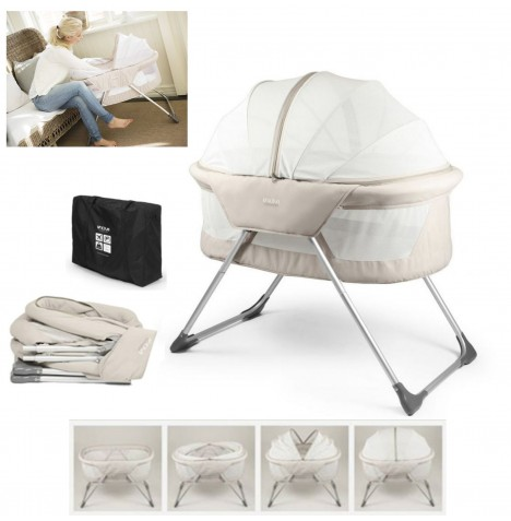 Inovi Cocoon Crib / Bassinet / Travel Cot - Beige