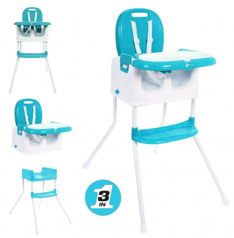 My Child Graze 3in1 Highchair - Aqua