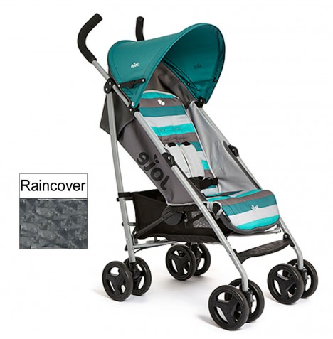 new joie aqua stripe nitro stroller lightweight umbrella pushchair raincover ebay. Black Bedroom Furniture Sets. Home Design Ideas
