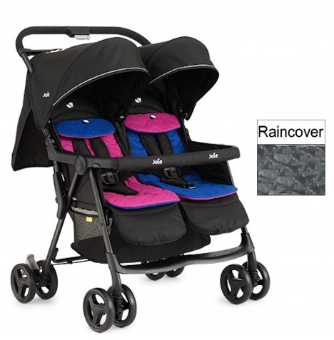 Joie Aire Twin Stroller - Pink / Blue