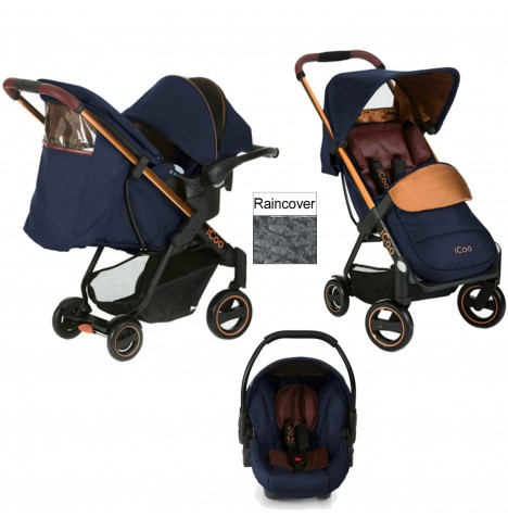 I'Coo Acrobat Shop n Drive Travel System - Copper / Blue