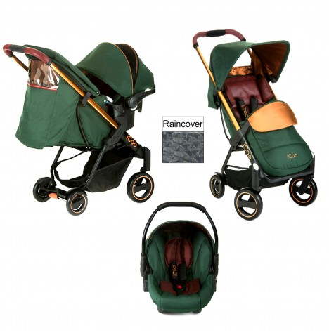 ICoo Acrobat Shop n Drive Travel System - Copper / Green