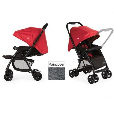 new joie ladybird red mirus scenic stroller 2 way facing pushchair birth buggy ebay. Black Bedroom Furniture Sets. Home Design Ideas