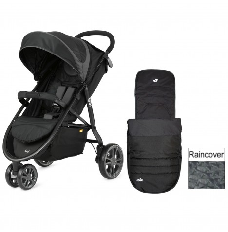Joie Litetrax 3 Wheel Stroller - Midnight