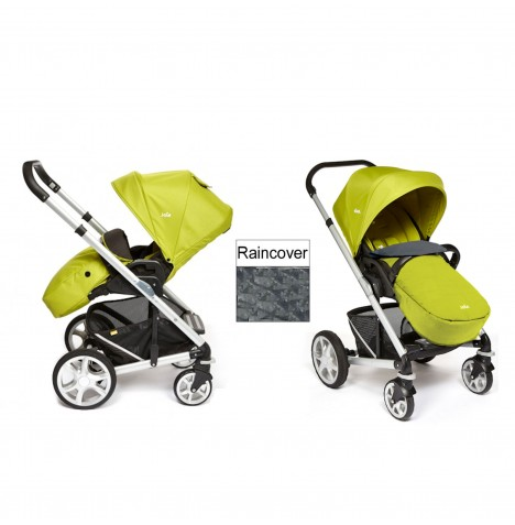Joie Chrome Plus Silver Frame Pushchair (With Colour Pack) - Green