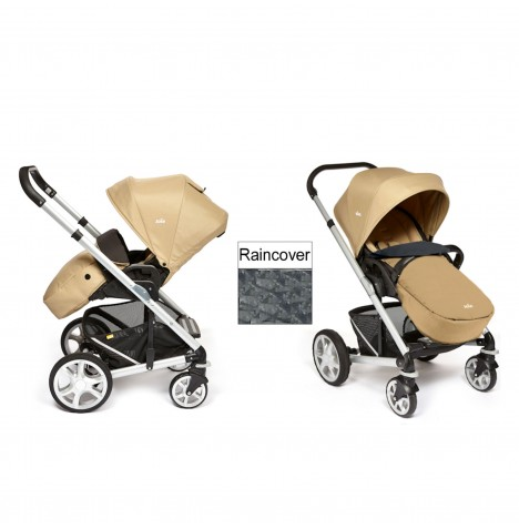 Joie Chrome Plus Silver Frame Pushchair (With Colour Pack) - Sand