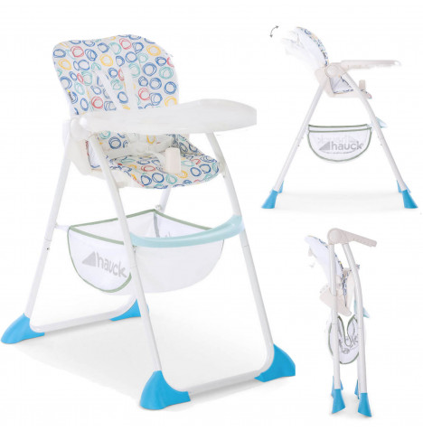 Hauck Sit n Fold Highchair - Circles Multi