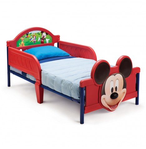 Delta Children Toddler Bed With 3D Footboard - Disney Mickey Mouse