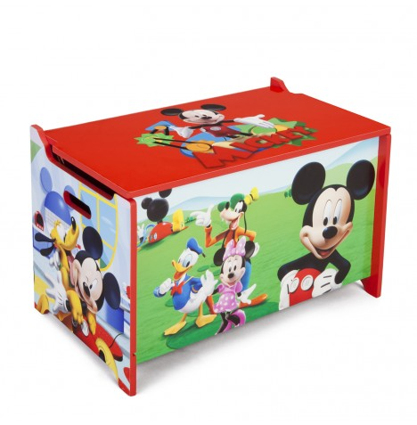 Delta Children Wooden Toy Box - Disney Mickey Mouse