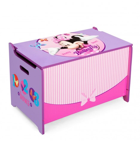 Delta Children Wooden Toy Box - Disney Minnie Mouse