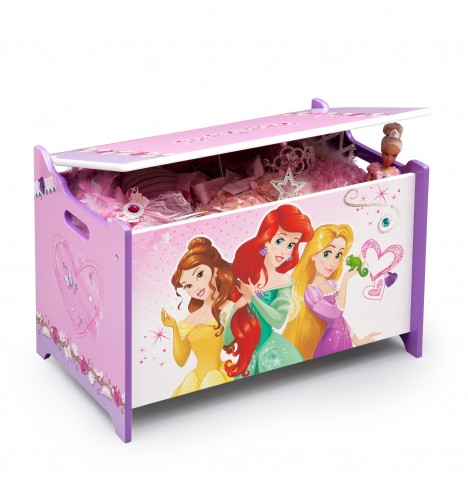 Delta Children Wooden Toy Box - Disney Princess