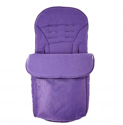 Clair De Lune Salisbury Fleeced Pushchair Footmuff - Grape