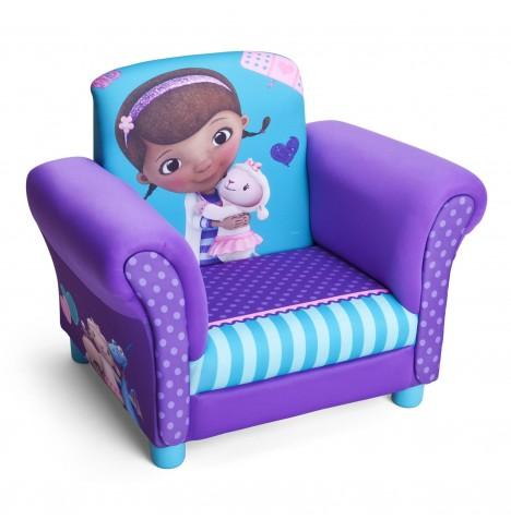New delta children disney doc mcstuffins upholstered chair for Kids upholstered chair