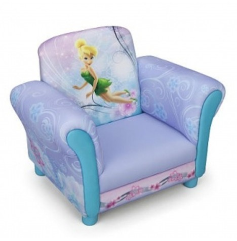 New Delta Children Disney Fairies Pink Upholstered Chair