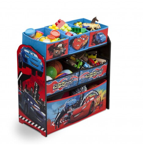 Delta Children Wooden Frame Multi-Bin Toy Organiser - Disney Pixar Cars