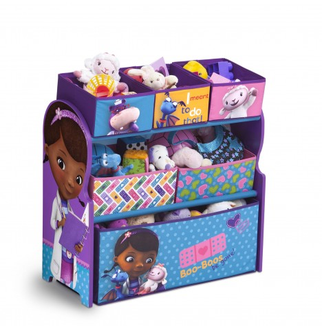 Delta Children Wooden Frame Multi-Bin Toy Organiser - Disney Doc McStuffins