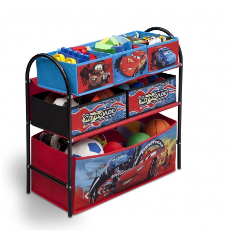 Delta Children Metal Frame Multi-Bin Toy Organiser - Disney Pixar Cars