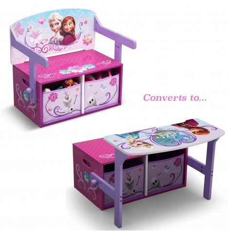 Delta Children 3in1 Convertible Bench / Desk - Disney Frozen