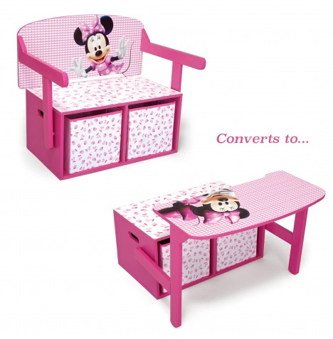 Delta Children 3in1 Convertible Bench / Desk - Disney Minnie Mouse