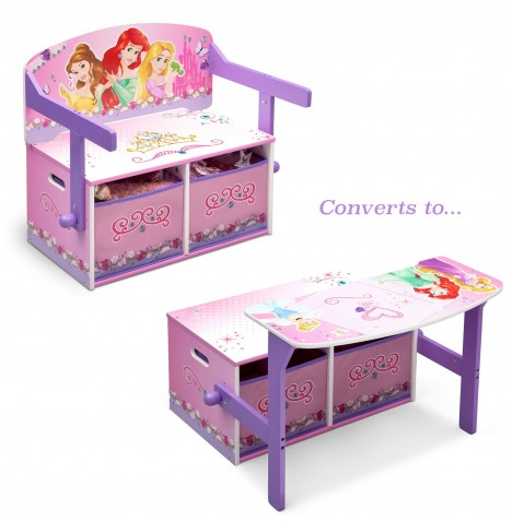 Delta Children 3in1 Convertible Bench / Desk - Disney Princess