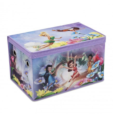 Delta Children Collapsible Fabric Toy Box - Disney Fairies